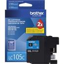 Brother Genuine Innobella LC105C Super High Yield Cyan Ink Cartridge.