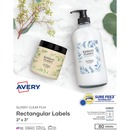 Avery® Glossy Clear Print-to-the-Edge Rectangular Labels