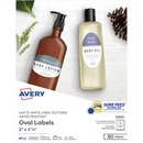 Avery® Matte Textured White Print-to-the-Edge Oval Labels