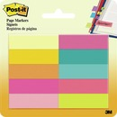Post-it Page Markers, Assorted Bright Colors, 1/2 in x 2 in