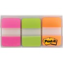 "Post-it® Divider Tabs, 1"" x 1.5"", Pink/Green/Orange"