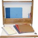 Designer Sign Systems Premium Oak/Laminate Foldup Wall Desk