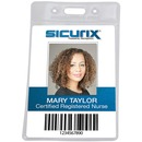 SICURIX Vinyl Punched ID Badge Holders - Vertical