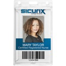 SICURIX Rigid PC ID Badge Dispensers with Thumb Slot - Vertical