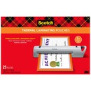 Scotch Thermal Laminator Menu Size Pouches
