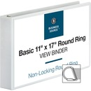 Business Source Tabloid-size Round Ring Reference Binder
