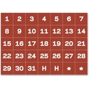 "MasterVision Magnetic Calendar Dates 1"" Characters"