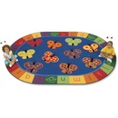 Carpets for Kids 123 ABC Butterfly Fun Oval Rug