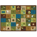 Carpets for Kids Learning Blocks Nature Design Rug
