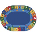 Carpets for Kids Learning Blocks Oval Seating Rug