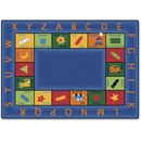 Carpets for Kids Bilingual Colorful Rectangle Rug
