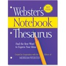 Merriam-Webster Notebook Thesaurus Printed Book