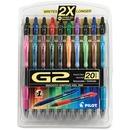 Pilot G2 20-pack Retractable Gel Ink Pens