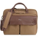 "Solo Executive Carrying Case (Briefcase) for 15.6"" Notebook - Brown, Brown"