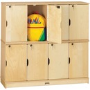 Jonti-Craft Double Stack 8-Section Student Lockers