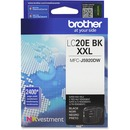 Brother Genuine LC20EBK INKvestment Super High Yield Black Ink Cartridge