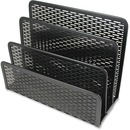 Artistic 3-compartment Punched Metal Letter Sorter