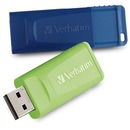 Verbatim 32GB Store 'n' Go USB Flash Drive - 2pk - Blue, Green