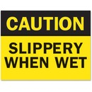 "Tarifold Safety Sign Inserts-""Caution ... Wet"""