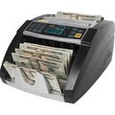 Royal Sovereign Back loading bill counter, 1000 bills/min and auto start/stop, batching 1 -999 bills, auto self test
