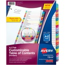 Avery® Ready Index Customizable Table of Contents Contemporary Multicolor Dividers
