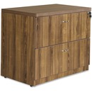Lorell Chateau Series Walnut Laminate Desking - 2-Drawer