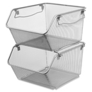 Lorell Mesh Stacking Storage Bin