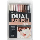 Tombow Dual Brush Art Pen 10-piece Set - Portrait Colours