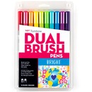 Tombow Dual Brush Art Pen 10-piece Set - Bright Colors