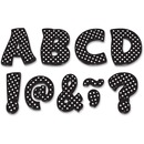 "Teacher Created Resources Black/Dots 3"" Magnet Letters"