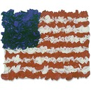 Hygloss American Flag Tissue Craft Kit