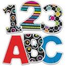 Carson-Dellosa Colorful Chalkboard EZ Letters Set