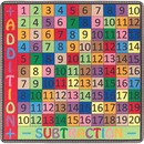Flagship Carpets Math Collection Addition/Subtraction Rug