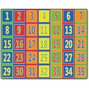 Flagship Carpets Fun 123s Color Square Rows Rug