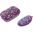 ZIPIT Colorz Carrying Case Pencil, Pen, School, Eyeglasses, Sunglasses - Purple