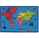 Carpets for Kids Value Line World Map Design Rug