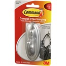 Command™ Traditional Hook Large Brushed Nickel