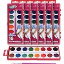 RoseArt 16-Color Washable Watercolors with Brush