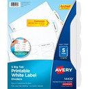 Avery® Big Tab White Label Tab Dividers
