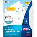Avery® Big Tab Printable Large White Label Dividers