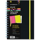 Astrobrights Twin Wire Journal with Black Soft-touch Cover
