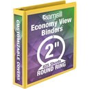 Samsill Economy Round-Ring View Binder
