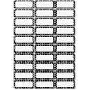 Ashley Dry Erase Black/White Dots Nameplate Magnets