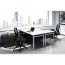 Offices To Go Ionic Workstation Dark Espresso, White