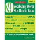 Scholastic Res. Grade 4 Vocabulary 240 Words Book Education Printed Book by Linda Ward Beech - English
