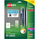 "Avery® Easy Align(R) Self-Laminating ID Labels, Permanent Adhesive, 7-1/2"" x 5"", 5 Labels (00750)"