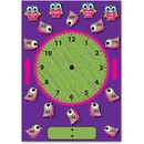 Ashley Birds/Owls Clock Bulletin Board Set
