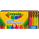 Crayola Sidewalk Chalk 64 Count Washable anti-roll sticks