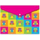 Ashley Owls Design Snap Poly Folders