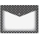 Ashley B/W Dots Design Snap Poly Folders